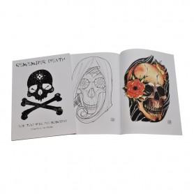 Illustration Book tete de mort