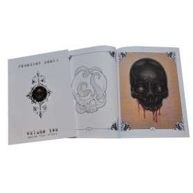 Illustration Book tete de mort