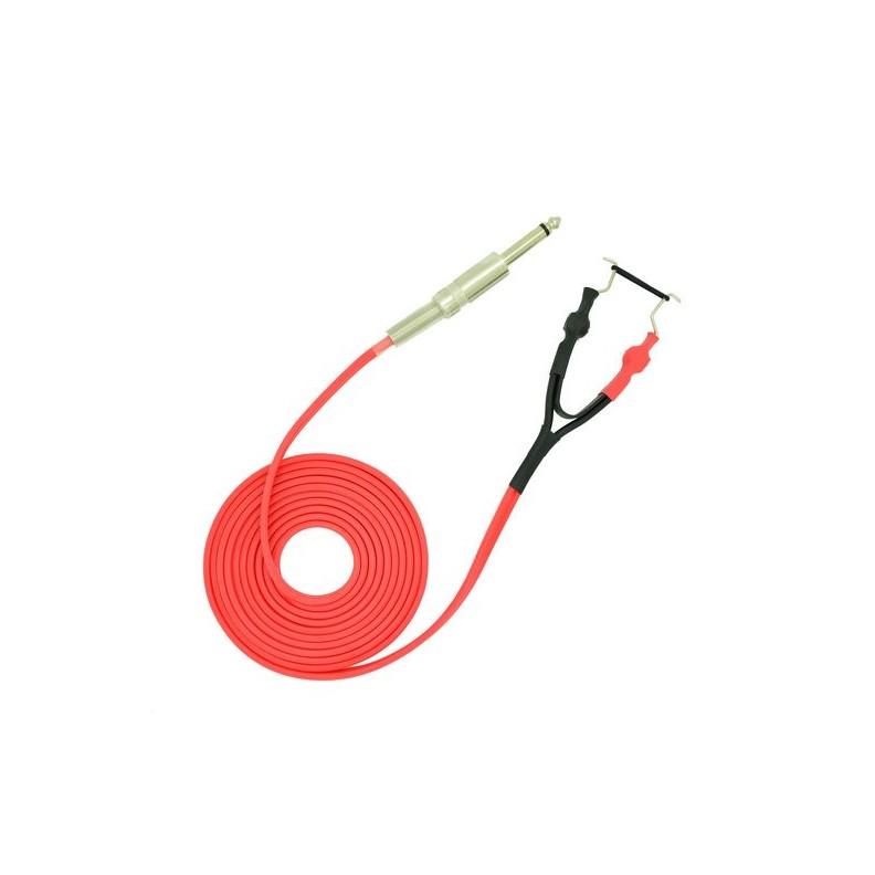 Clip Cord Premium 2,50 mètres rouge pour machine de tatouage