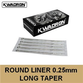 Aiguille Round Liner (RL) 0,25mm Long Taper Kwadron
