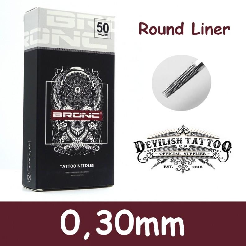 Aiguilles Round Liner 0,30mm Deluxe - Par 5 ou 50