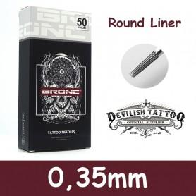 Aiguilles Round Liner 0,35mm Deluxe - Par 5 ou 50