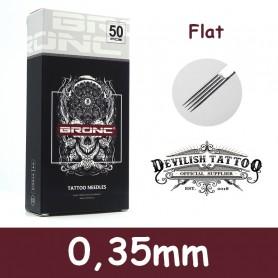 Aiguilles Flat 0,35mm Deluxe - Par 5 ou 50