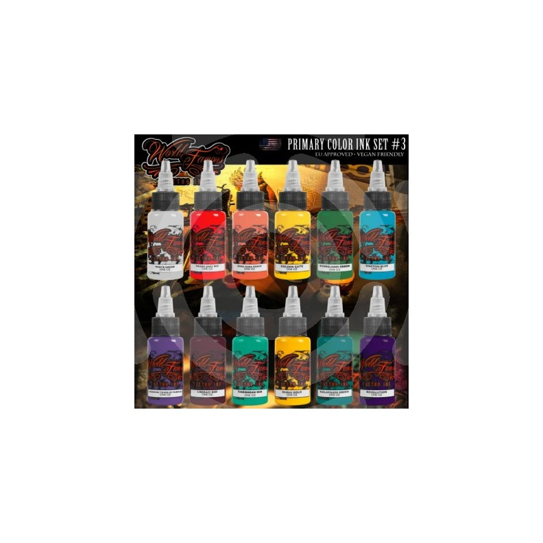 Kit encres WORLD FAMOUS - Set de 12 couleurs Serie 3