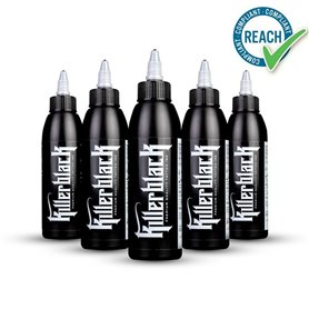 Encre de tatouage KILLERBLACK TATTOO INK - Kit de 5 teintes 150ml