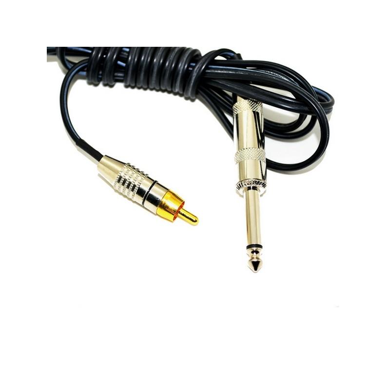 clip cord RCA standard 1.80m noir pour machine rotative