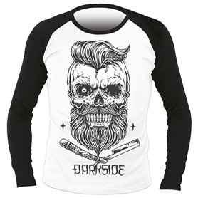 T-shirt DARKSIDE Homme - Bearded skull manches longues