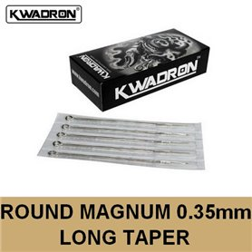 Aiguilles KWADRON Round magnum 0,35mm Long Taper