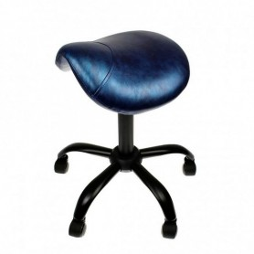 "Tabouret Professionnel ""selle de cheval"" - Ink Blue"