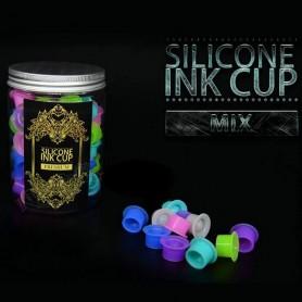 Ink Cups Silicone Premium par 100