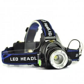 Lampe torche frontale avec bandeau (1 LED)