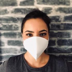 Masque de protection lavable et réutilisable blanc
