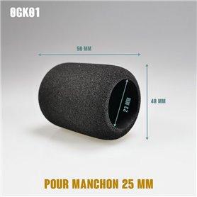 Surmanchon en mousse Ø40mm - Grip Ø25mm - Long 50mm