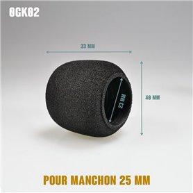 Surmanchon en mousse Ø40mm - Grip Ø25mm - Long 33mm