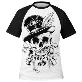 T-shirt DARKSIDE Homme - White Voodoo Skull