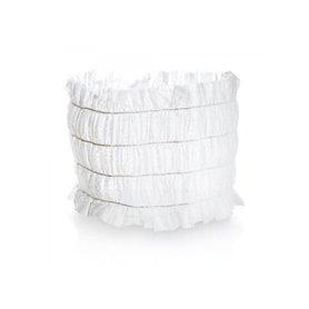Bandeau à cheveux blanc jetable - 100 unités Xanitalia