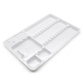 Plateaux plastiques jetables par 10 - 18x28cm