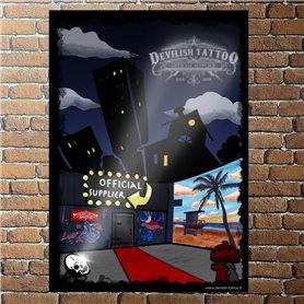 Affiche DEVILISH TATTOO 60x40cm