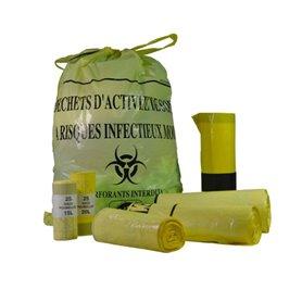 Sac poubelle jaune pour DASRI - 15, 30 ou 50L - Par 25