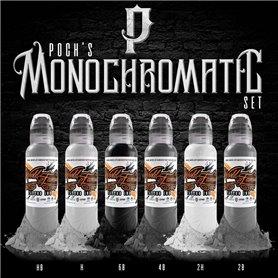 Kit encres WORLD FAMOUS - Poch Monochromatic 30ml
