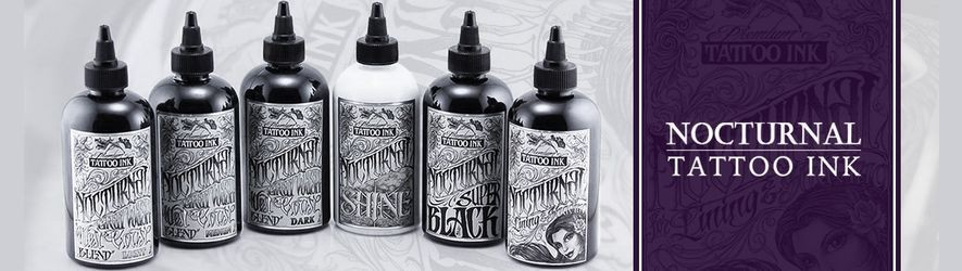 Encres de tatouage NOCTURNAL INK - 6 Nuances de noirs et gris