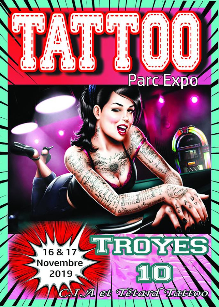 Affiche Troyes tattoo show